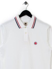PRETTY GREEN LS POLO SHIRT WHITE