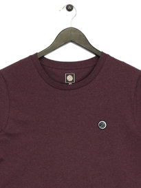 Pretty Green Marl Crew T-Shirt Purple