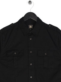 Pretty Green Marlinford Overshirt Black