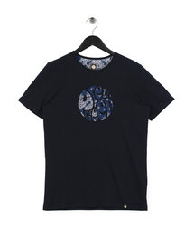 Pretty Green Mens Bandana Print Applique T-Shirt Navy