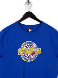 PRETTY GREEN MENS BOSTON T-SHIRT BLUE