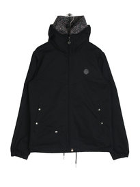 Pretty Green Mens Cotton Zip Up Hooded Jacket Black