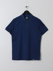 PRETTY GREEN MENS DAWISH POLO NAVY