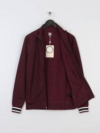 PRETTY GREEN MENS FORSTON TRACK TOP BURGUNDY