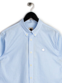 PRETTY GREEN MENS GLENDALE GINGHAM SHIRT BLUE