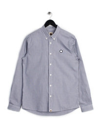 PRETTY GREEN MENS GLENDALE GINGHAM SHIRT NAVY