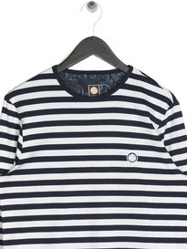 Pretty Green Kinsey Long Sleeved Striped T-Shirt Navy