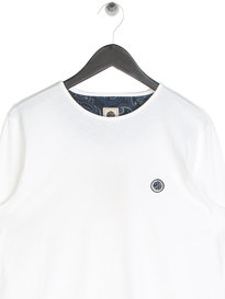 Pretty Green Mitchell Long Sleeve T-Shirt White