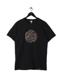 PRETTY GREEN MENS PAISLEY LOGO TEE BLACK
