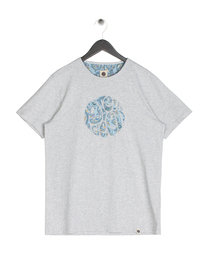Pretty Green Paisley Print Applique T-Shirt Grey