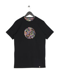 Pretty Green Mens Paisley Print T-Shirt Black