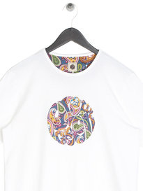 Pretty Green Mens Paisley Print T-Shirt White