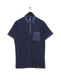 PRETTY GREEN MENS SPRINGFIELD POLO NAVY