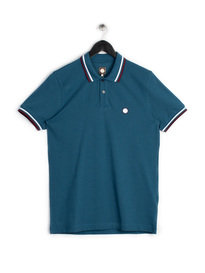 PRETTY GREEN MENS SHORT SLEEVE POLO BLUE