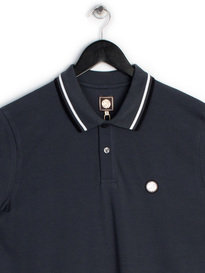 PRETTY GREEN MENS SHORT SLEEVE POLO GREY