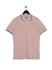 PRETTY GREEN MENS SS POLO PINK