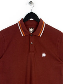 Pretty Green Mens Ss Polo Shirt Burgundy