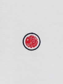 PRETTY GREEN MENS SS POLO WHITE