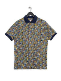 PRETTY GREEN STRETFORD AOP POLO NAVY