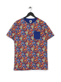 PRETTY GREEN MENS TETLOW CREW T-SHIRT MULTI