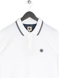 Pretty Green Barton Tipped Pique Polo White