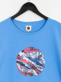 PRETTY GREEN MENS UNION JACK LOGO TEE BLUE