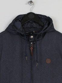 PRETTY GREEN MENS WREN PAISLEY JACKET NAVY