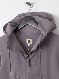 Pretty Green Mens Zip Through Hooded Sweat Grey