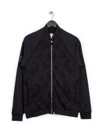 PRETTY GREEN MIDHURST JACQUARD TRACK TOP BLACK