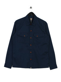 Pretty Green Military Shirt Blue