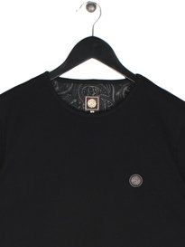 Pretty Green Mitchell Short Sleeve Crew T-Shirt Black