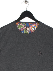Pretty Green Mitchell Short Sleeve Crew T-Shirt Dark Grey