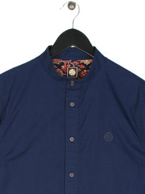 Pretty Green Oakwood Long Sleeve Shirt Navy