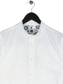 Pretty Green Oakwood Long Sleeve Shirt White