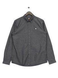 Pretty Green Oldbury Oxford Long Sleeve Shirt Black