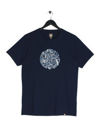 Pretty Green Paisley Applique Logo Short Sleeve T-Shirt Navy