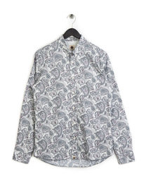 Pretty Green Paisley Print Shirt Grey