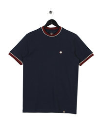 Pretty Green Piping Tipped T-Shirt Navy