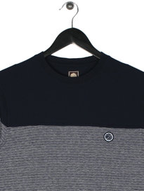 Pretty Green Redgrave Long Sleeve T-Shirt Navy