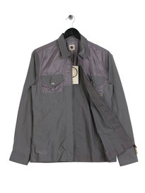 Pretty Green Robinia Overshirt Grey