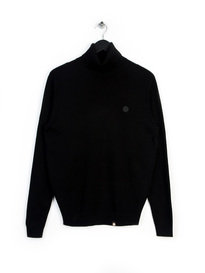 Pretty Green Roll Neck Knit Long Sleeve Black