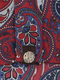 PRETTY GREEN SEFTON PAISLEY SHIRT RED