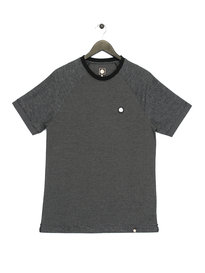 Pretty Green Short Sleeve Rowsley Pique T-Shirt Black