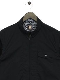 Pretty Green Long Sleeve Zip Shirt Black