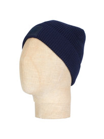 Pretty Green Solid Beanie Navy