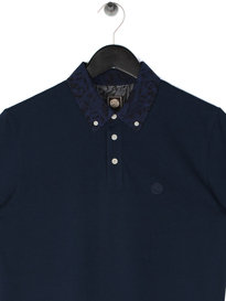 Pretty Green Somerford Short Sleeve Collar Polo Navy