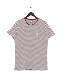 PRETTY GREEN SS FEEDER TEE BURGUNDY