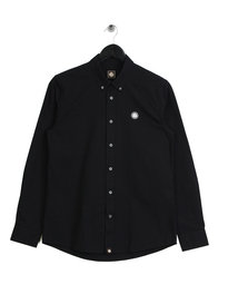 Pretty Green Sterling Long Sleeve Oxford Shirt Black