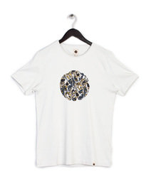 PRETTY GREEN STRETFORD PAISLEY LOGO T-SHIRT GREY