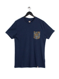 PRETTY GREEN STRETFORD POCKET SS T-SHIRT NAVY